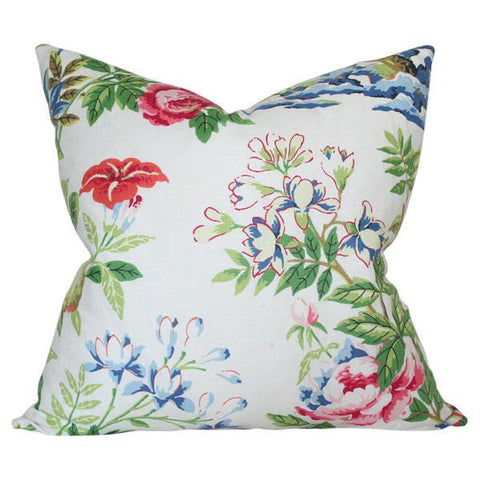Shantung Garden Bloom Custom Designer Pillow | Arianna Belle