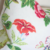 Shantung Garden Bloom Custom Designer Pillow detailed view | Arianna Belle