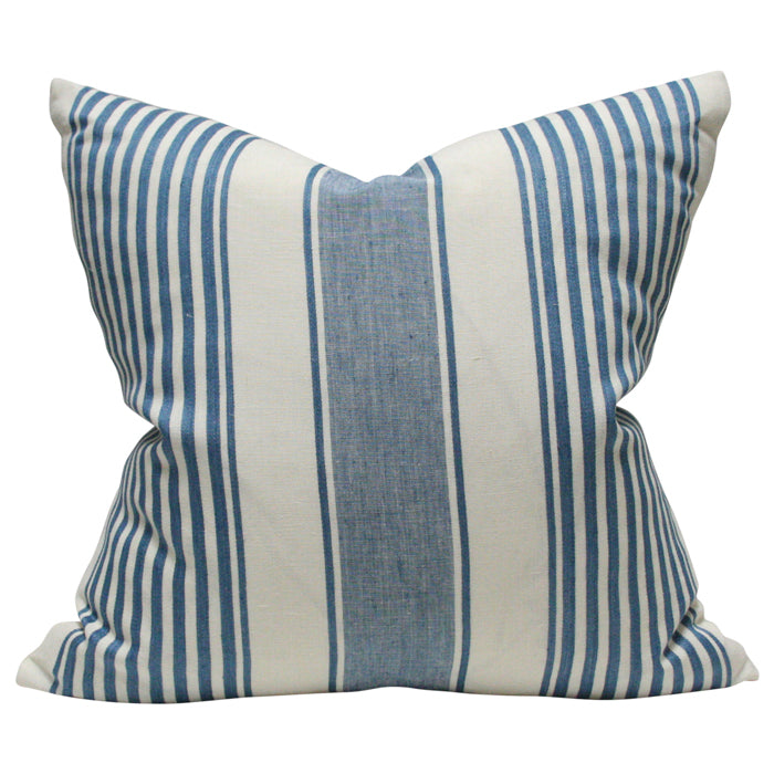 Summerville Linen Stripe Ocean Blue