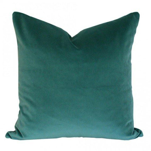 Teal Velvet Custom Designer Pillow | Arianna Belle