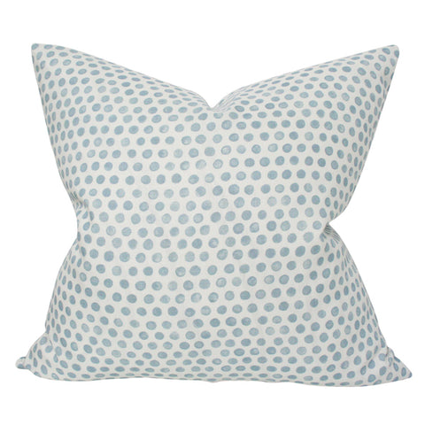 Tika Dot Sky Blue designer pillow from Arianna Belle Shop