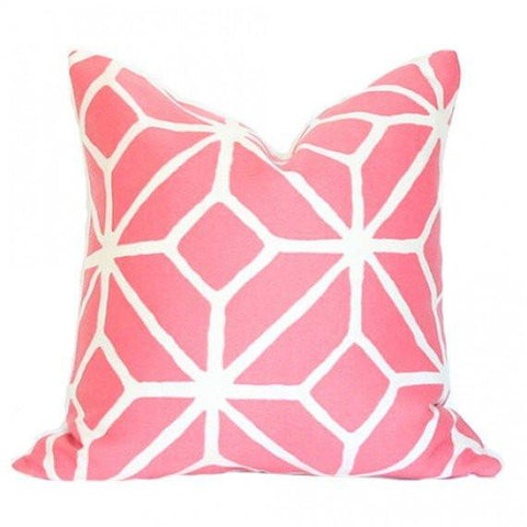 Trellis Print Watermelon pillow
