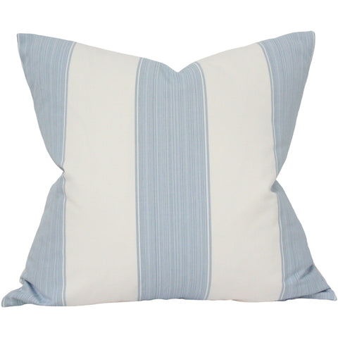 Wide Stripe French Blue Designer Pillow from Arianna Belle Shop