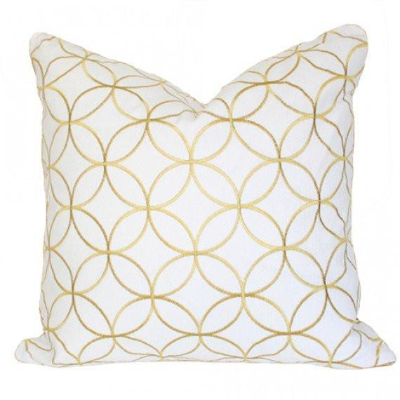 Sungold Lattice Custom Designer Pillow | Arianna Belle