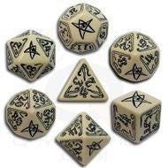 Call of Cthulhu: Beige and Black Dice, Set of 7
