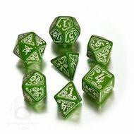 Call of Cthulhu: Green/Glow In Dark Dice, Set of 7