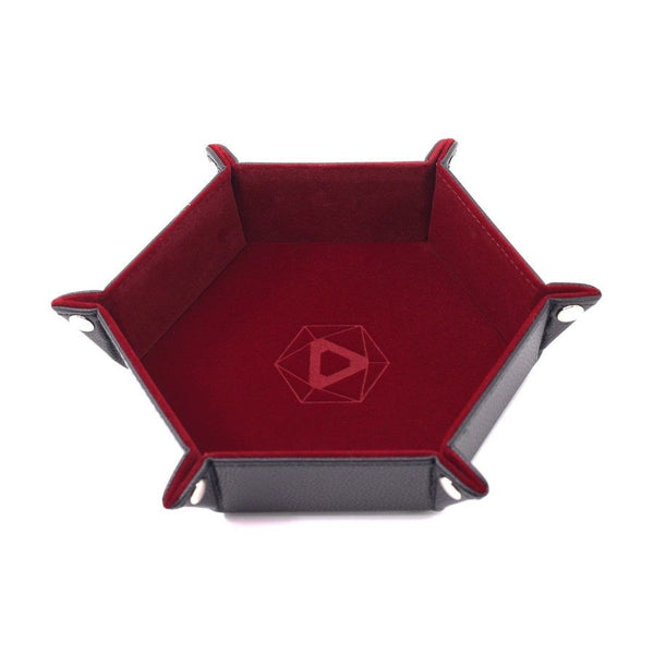 Folding Dice Tray Hex Red