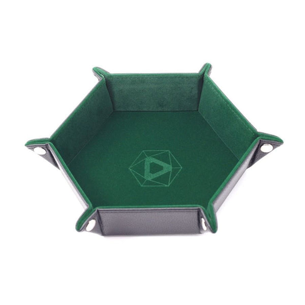Folding Dice Tray Hex Green