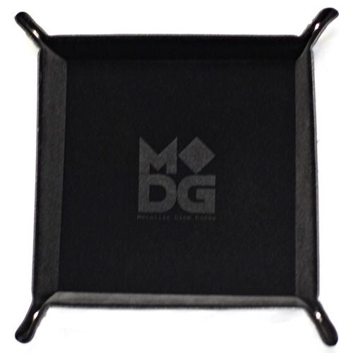 Folding Dice Tray Square Black