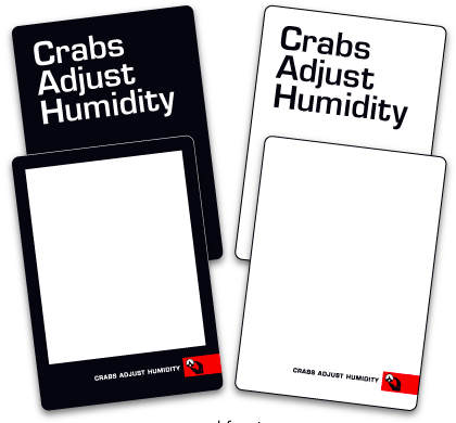 CRABS ADJUST HUMIDITY - BLANK CARDS