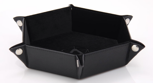 Folding Dice Tray Black Hex