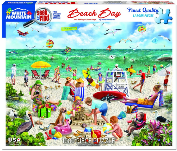 Beach Day Seek and Find 1000 pc Puzzle