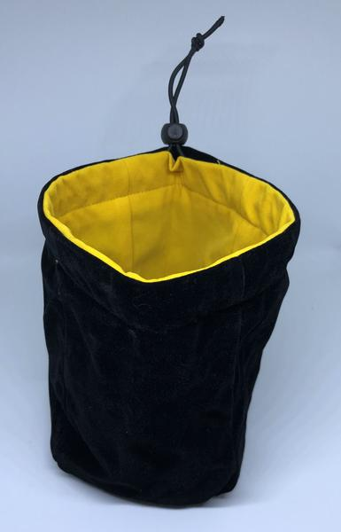 Large Reversible Dice Bag, Black Yellow