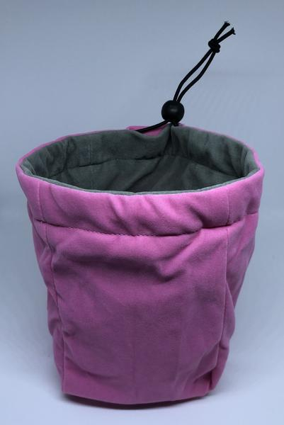 Large Reversible Dice Bag, Pink Grey