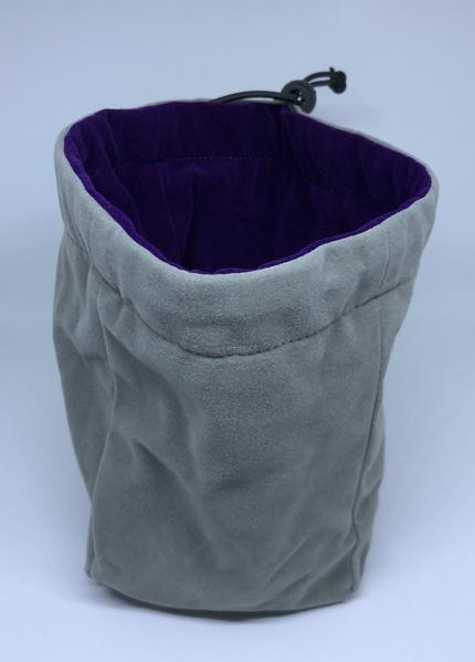 Large Reversible Dice Bag, Purple Grey