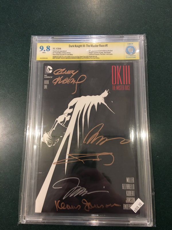 Dark Knight III 1, CBCS 9.8 NM, Signed 5x Frank Miller