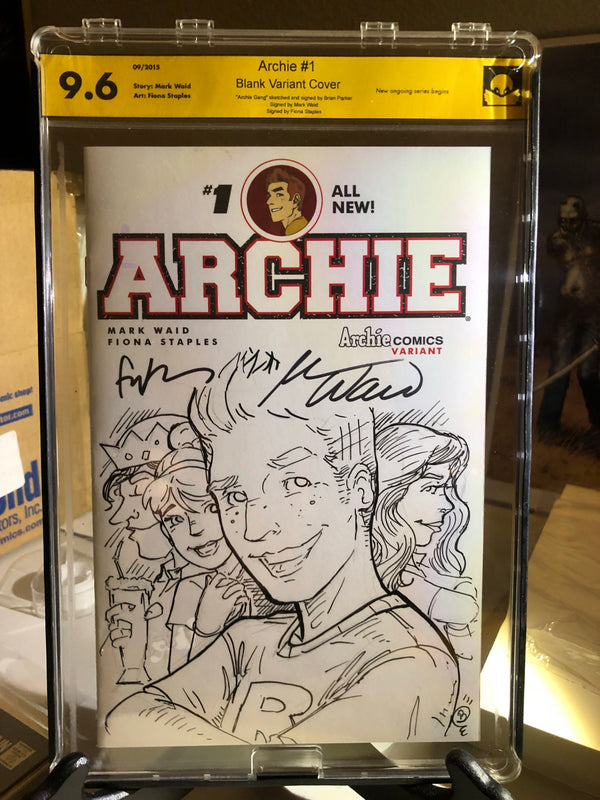 Archie 1 9.6 NM Sketch Signed 3x