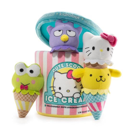 Hello Sanrio Medium Plush Ice Cream Scoops