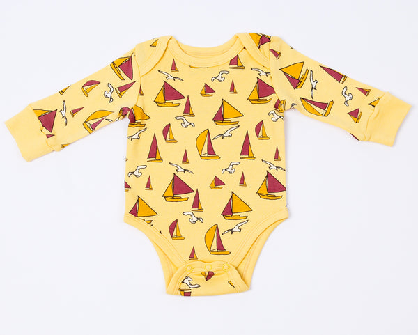 Sail ON !!! Long Sleeve Body Suit