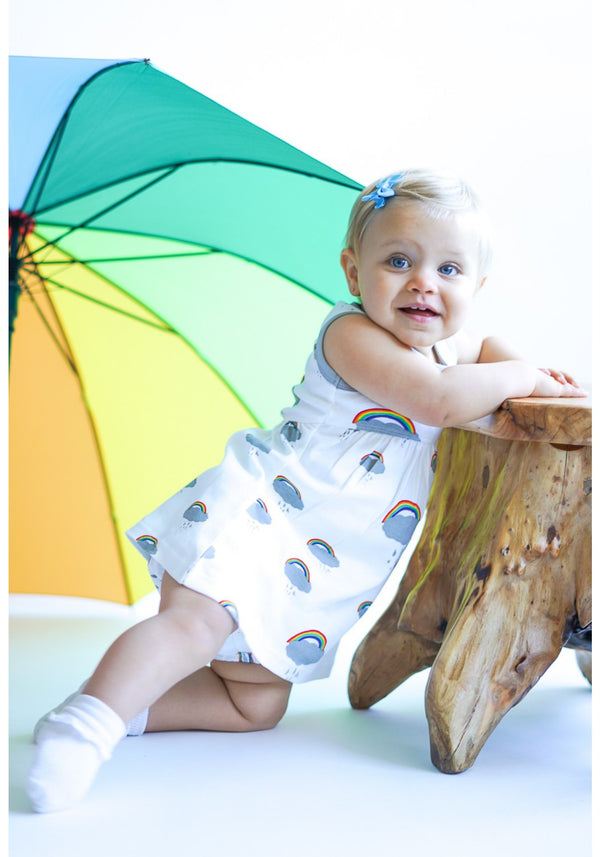 Peek a Boo Rainbow!!! Yoke Dress