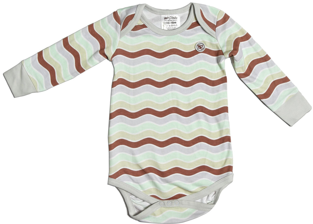 Busy Dizzy Waves!!! Long Sleeve Body Suit
