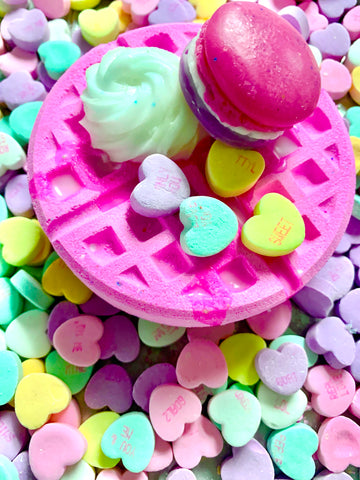Candy Hearts Bath Bomb