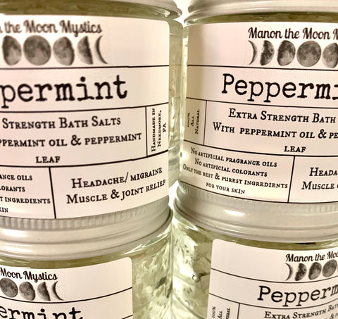 Extra Strength Peppermint Bath Salts