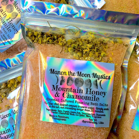 Mountain Honey & Chamomile Crystal Infused Bath Salts