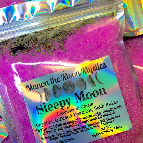 Sleepy Moon Crystal Infused Bath Salts