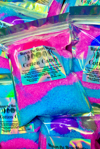 Cotton Candy Crystal Infused Bath Salts