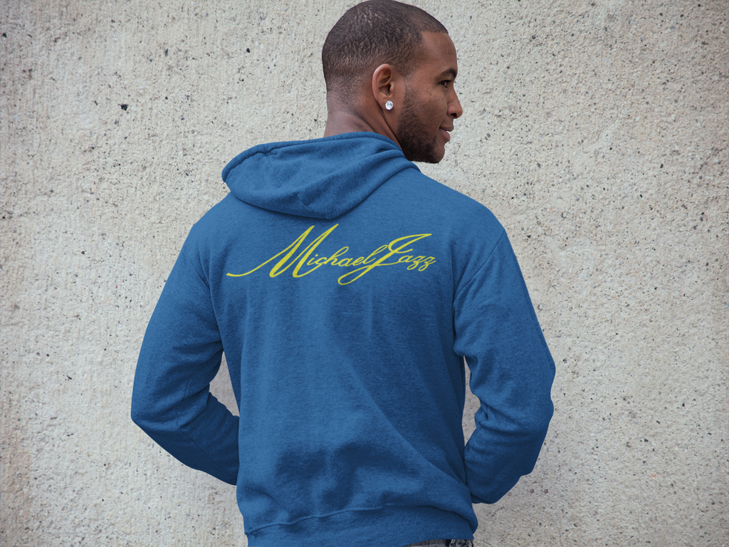 Michaeljazz Brand Mens Classic Signature Zip-Up Hoodies - michaeljazz.ca - Michaeljazz Feel Good Lifestyle Brand