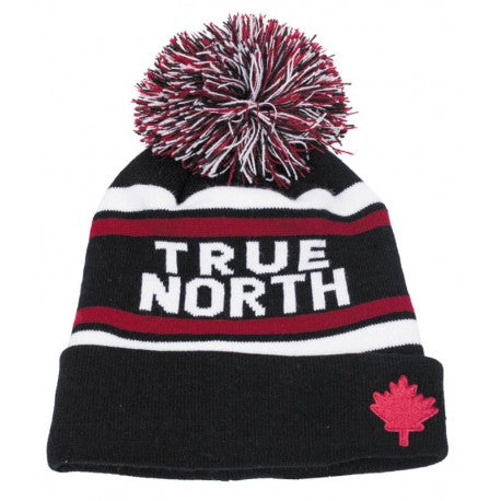 Maple Leaf True North Pom Pom Beanie - michaeljazz.ca - Michaeljazz Feel Good Lifestyle Brand