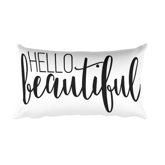 Brand new Hello Beautiful Rectangular Pillow – Dove & Glory MH99