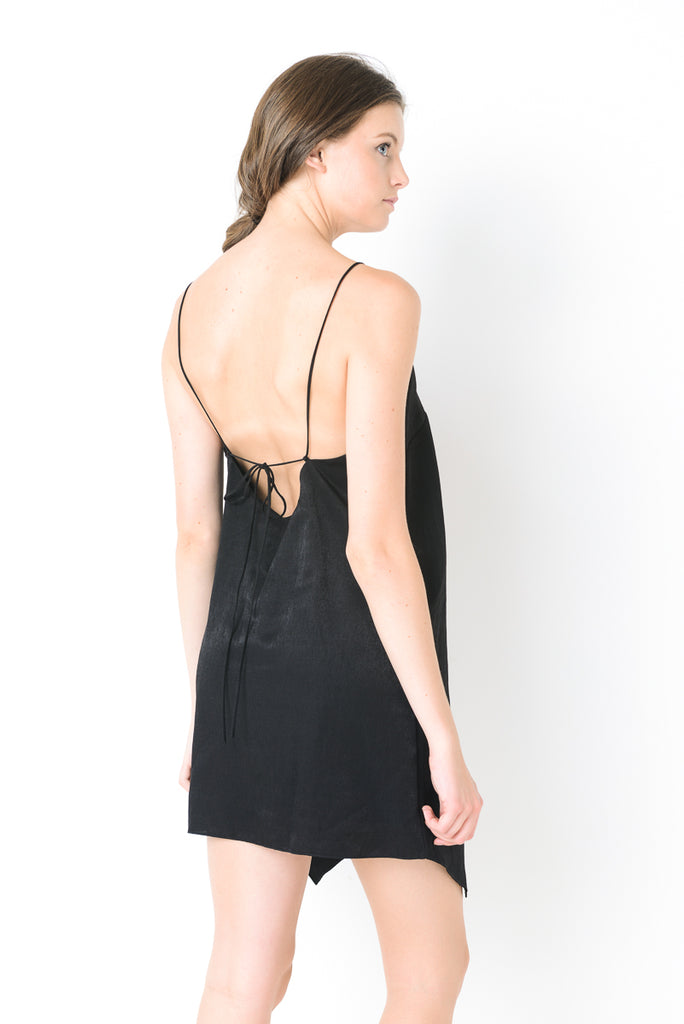 Tie-Back Slip Dress