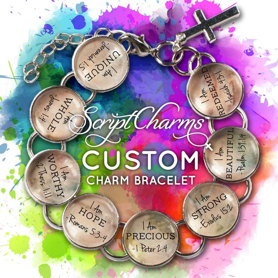 CUSTOM ScriptCharms Christian Charm Bracelet