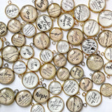 Bulk Assorted Christian and Scripture Charms for Jewelry Making – 16 & 20mm, Silver, Gold – Designer Bible Bracelet Charms