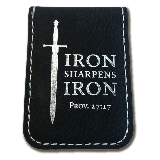 Iron Sharpens Iron, Proverbs 27:17 – Engraved Money Clip