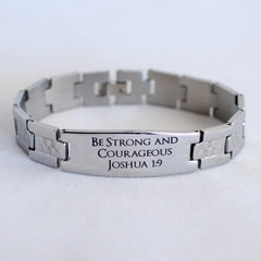 Engraved stainless steel bracelets
