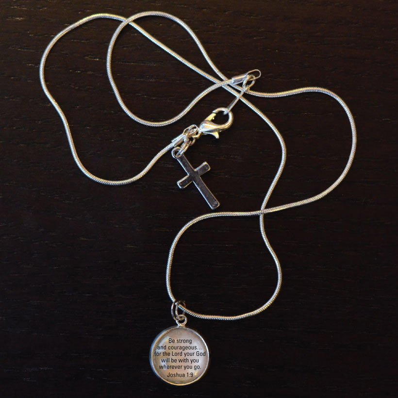 Bible Verse Scripture Charm Necklace