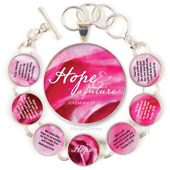 Hope Scriptures Colorful Silver-Plated Necklaces