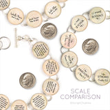 ScriptCharms silver-plated charm bracelets scale comparison