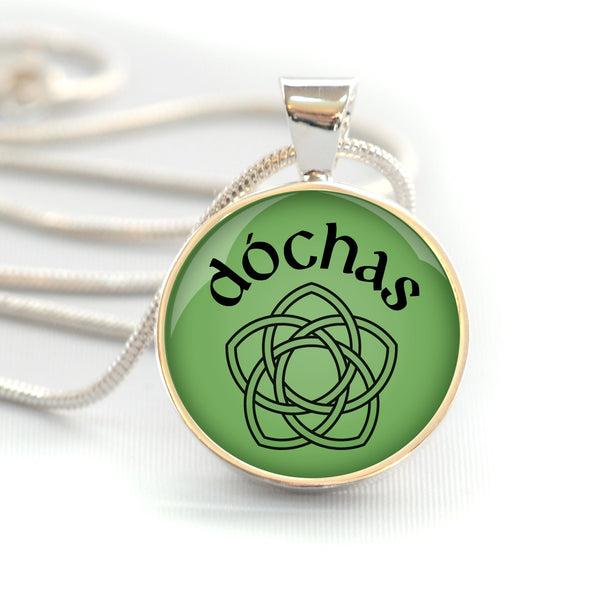 "Dóchas – Irish ""Hope"" Celtic Rose Silver-Plated Necklace"