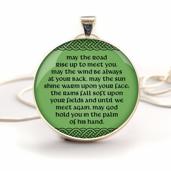 Irish Blessing Silver-Plated Necklace