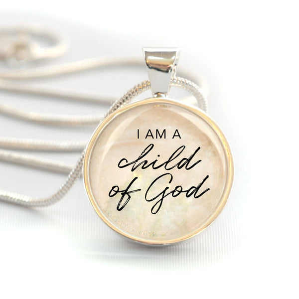 """Child of God"" Christian Charm Necklace (Medium)"