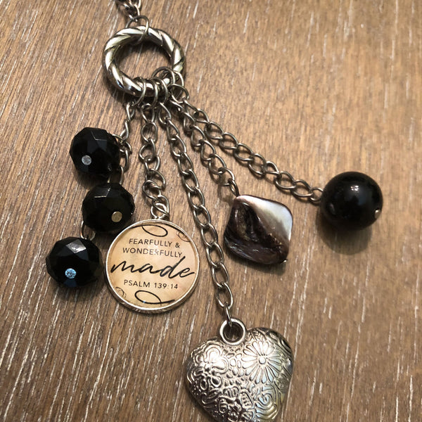 """Fearfully & Wonderfully Made"" Psalm 139:14 Scripture necklace"