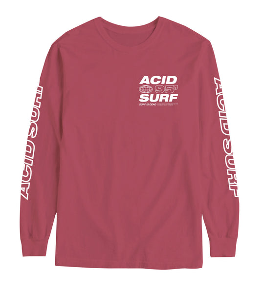 Acid Surf Longsleeve - Crimson