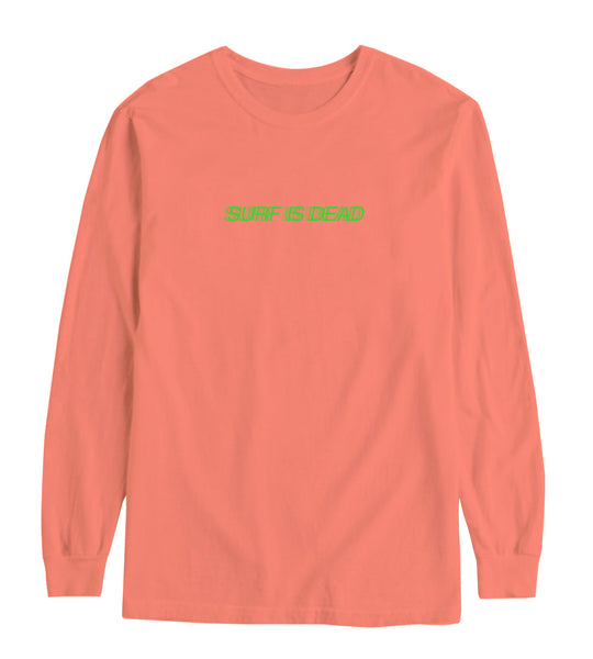 Blurred Longsleeve Tee - Salmon