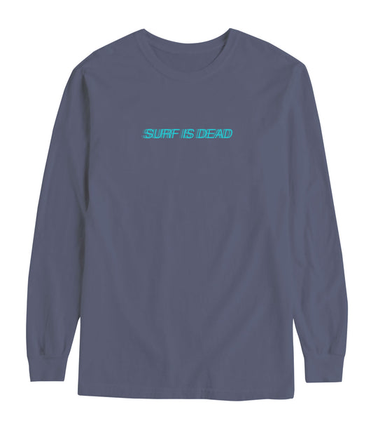 Blurred Longsleeve Tee - Blue Jean