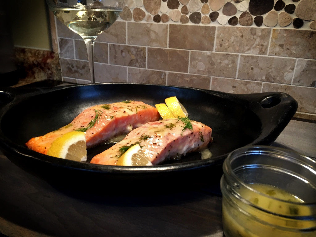 Salmon with Lemon-Dill Sauce | Stone Cooking Like a Pro