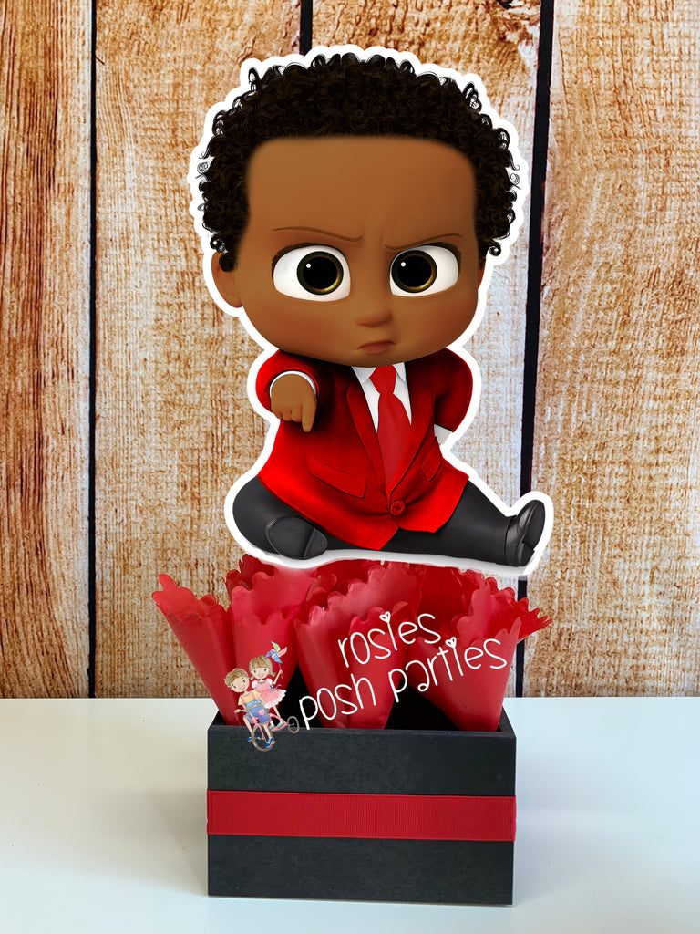 African Boss Baby Red Suit Boy Party Decoration Rosie S Posh Parties